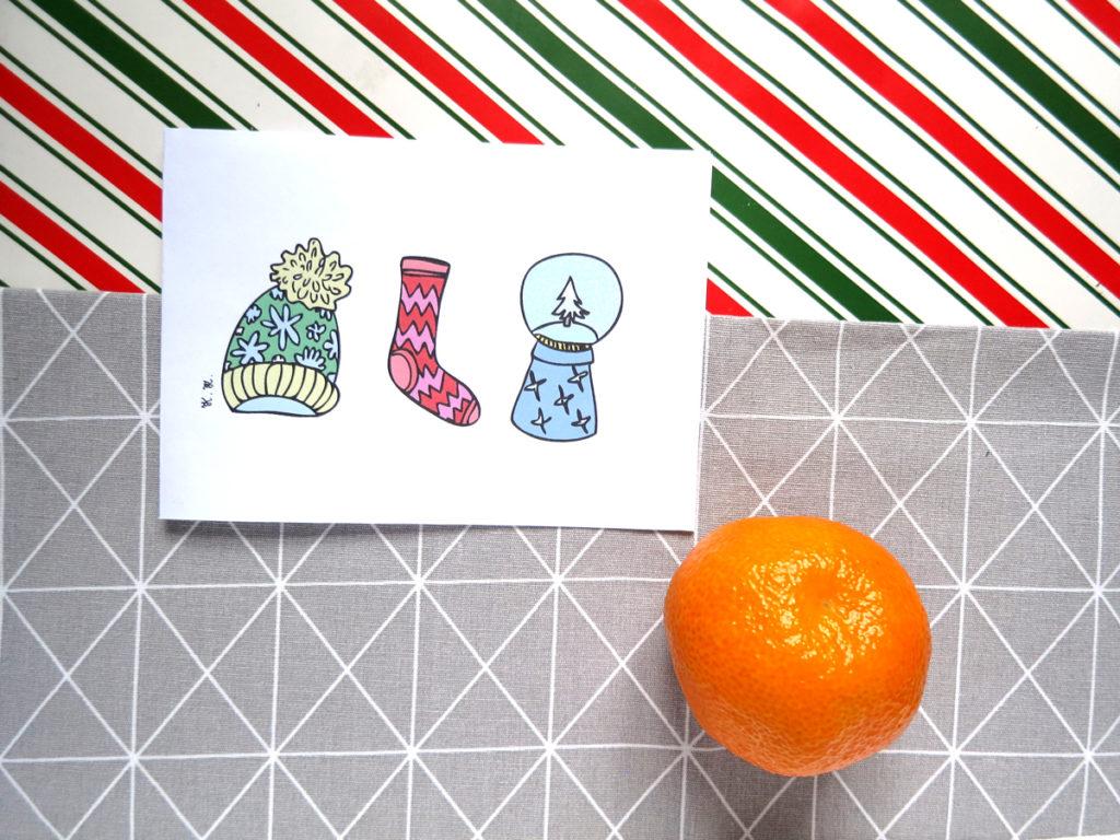 Kartki świąteczne, do druku, do pobrania - za darmo. Graficzne, minimalistyczne, kolorowe wzory.