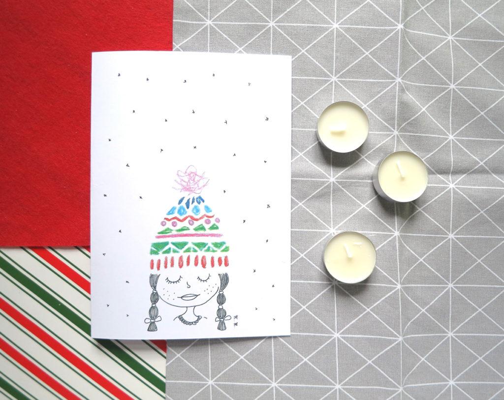 Kartka A4 z motywem świątecznym, do druku i pobrania za darmo.