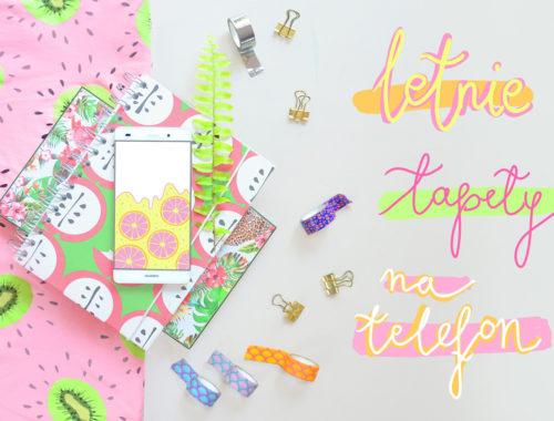 Letnie tapery na telefon do pobrania za darmo - kobiece, pastelowe wzory
