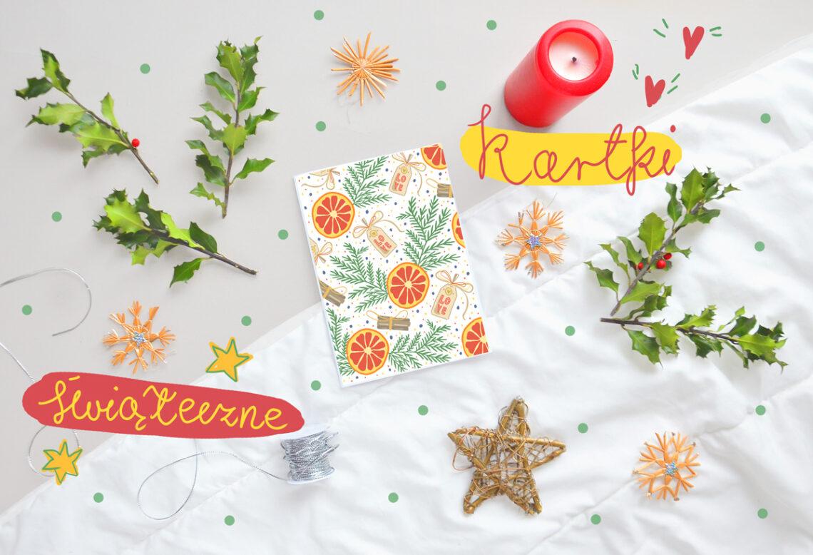 Śliczne kartki świąteczne na Boże Narodzenie. Do pobrania i wydrukowania za darmo. Oryginalne, graficzne i kolorowe wzory.