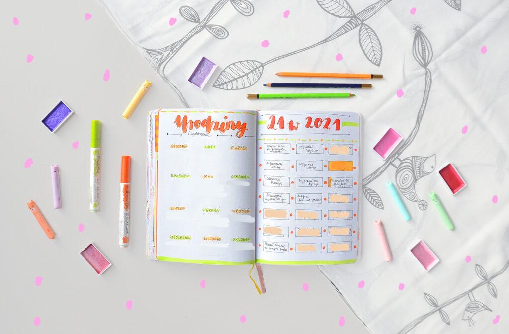 Bullet journal na Nowy Rok. Jak dobrze zaplanować rozkładówki? Pomysły na kolekcje w bujo.